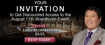 Your invitation to get discounted access to the August 11th Boardroom event!